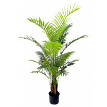 S2847Grn Real Touch Green Areca Palm in Pot 137cm