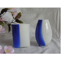 4 x Blue & White Assorted  Vase
