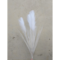 S2402Wht White Pampas Grass Bush