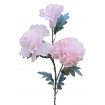 S2406Pnk Pastel Light Pink Peony Spray x 3