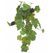 Grape Leaf Ivy Hanging Bush x 8 with Fruit Real Touch