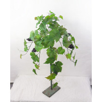 Hanging Grape Leaf Bush with Grapes S2787Grn