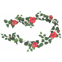 S2804Rd Red Hibiscus Garland