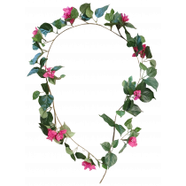 S2807Bty 6ft Bougainvillea Garland 99 leaf