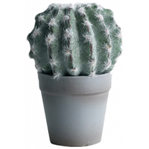 S2837Grn 16cm Cactus Plant in Grey Pot