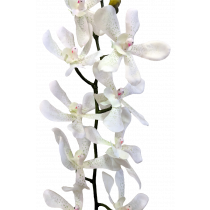 S3626Wht Vanda Orchid White Artificial Orchid
