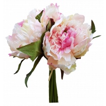 S3688LtPnk Light Pink Artificial Peony Bouquet