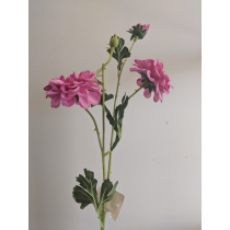 S3778HtPink Dark Pink Dahlia Spray 2 flowers and 1 bud