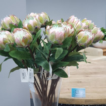 S3874Grn Small Green Light Pink Protea
