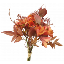 Orange Dried Frangipani Hydrangea Bouquet S3951Org