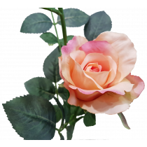 S5729Sal Salmon Rose Artificial Flowers