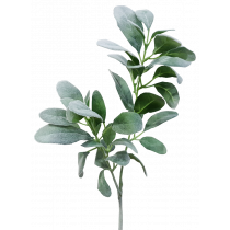 Lambs ear artificial flocked greenery S5798Grn