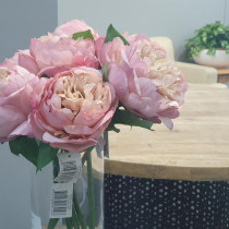 S5841AntPnk Short Stem Antique Pink Peony Table Flower Artificial JMCFloral