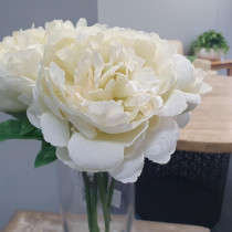 Cream Peony Artificial flowers wedding S5841Crm