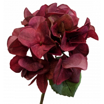 Burgundy Short Stem Artificial Hydrangea