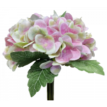 S7502PnkAp Light Pink Green Hydrangea Bouquet Artificial Flowers Weddings