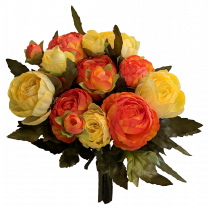 S7513OrgYel Orange & Yellow Ranunculus Bouquet x 12
