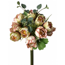 36cm Cream Red Lily of the valley Bouquet 14 flowers S7528CrmRd
