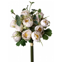 S7528Wht 36cm White Lily of the valley Bouquet 14 flowers
