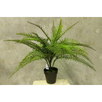 S8921Grn Artificial 64cm Fern 34 Leaves in Pot