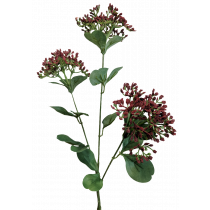 Burgundy Artificial Achillea Spray