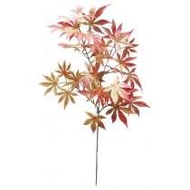 S9886Rd Red toned Maple Leaf Spray