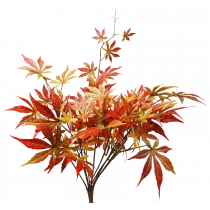 S9887Rd Red toned Maple Leaf bush