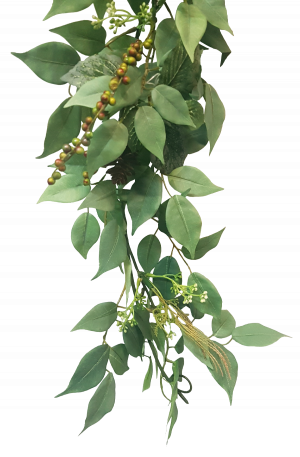 6ft Ficus Fittonia Berry Garland
