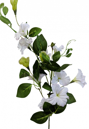 White Petunia Spray Artificial  S3702Wht